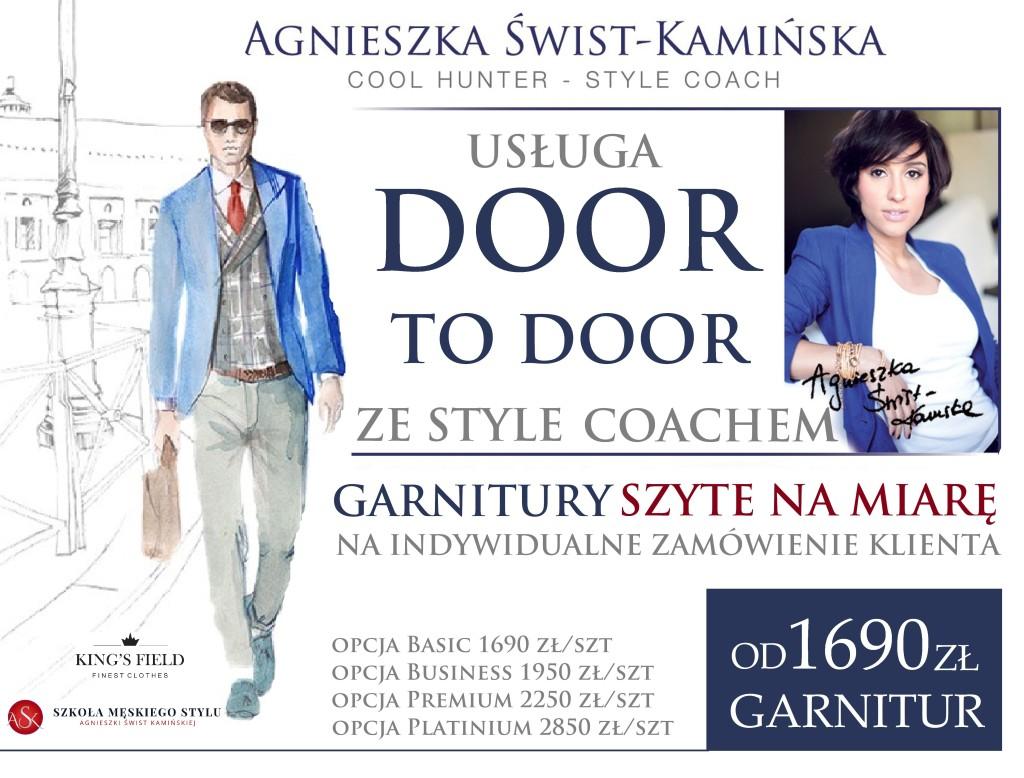 Plakat dla DOOR TO DOOR logaa