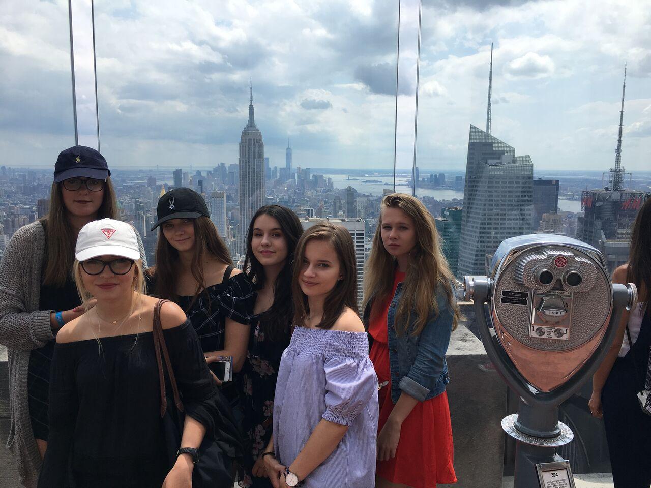 grupa ATJ Lingwista - widok na Manhattan