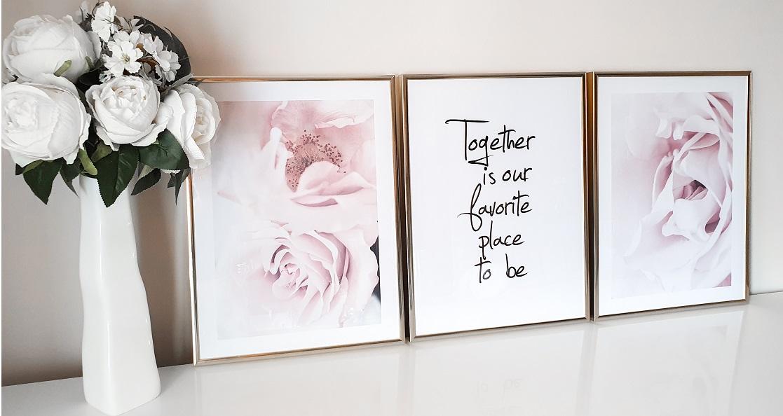 dekoracje w sypialni plakaty