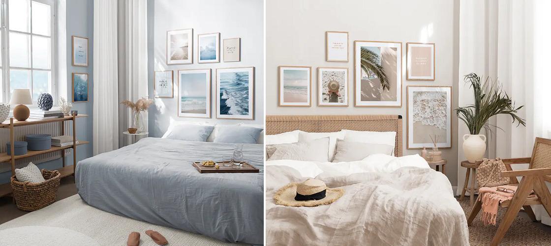 pomysł na dekorację do sypialni
