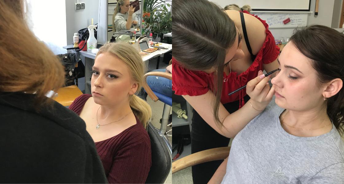 zajęcia z podstaw makijażu dla uczennic szkoły zawodowej